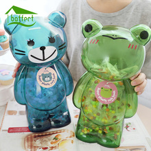 Money Box Piggy Bank Big Bear Plastic Coin Bank Cartoon Modern Money Saving Box Home Decor Figurines Craft Gift For Kid Children(China)