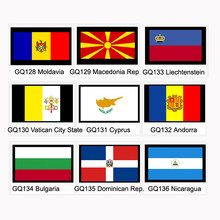 Moldavia Macedonia Rep Vatican City State Cyprus Andorra Liechtenstein Bulgaria Dominican Rep. Nicaragua National Flag Banner(China)