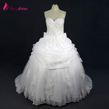 Buy Berydress Brides Online Real Photo Puffy Ball Gown Appliques Bow Wedding Dress 2016 Beaded Pearls mariage Wedding Gowns for $217.55 in AliExpress store