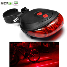 New Bicycle Laser Taillight Night Mountain Bike Safety Warning LED Bycicle Light Waterproof Cycling Tail Lights Bike Accessories(China)