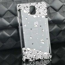 New Fashion Crystal PC Hard Case for Samsung Galaxy Note 5 Bling White Pearls Perfume Diamond Back Cover for Samsung Note 5 Case