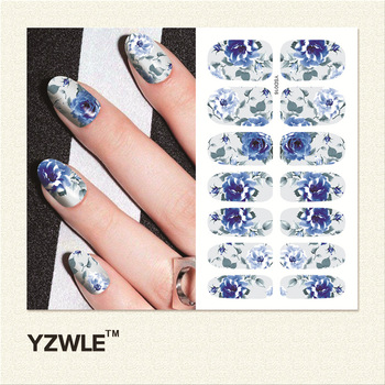 YZWLE 1 Sheet DIY Decals Nails Art Water Transfer Printing Stickers Accessories For Manicure Salon (YSD016)