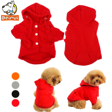 Dog Clothes Dog Hoodie Coats Cotton Pet Sport Sweater Jacket 4 Sizes Puppy Clothing Outerwears Apparel For Teddy Chihuahua(China)