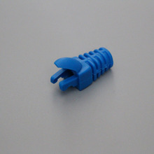 100 Piece Blue Color Boots for Cat 5e,cat 6 Network Cable,RJ 45 Plug Boot Finger Type