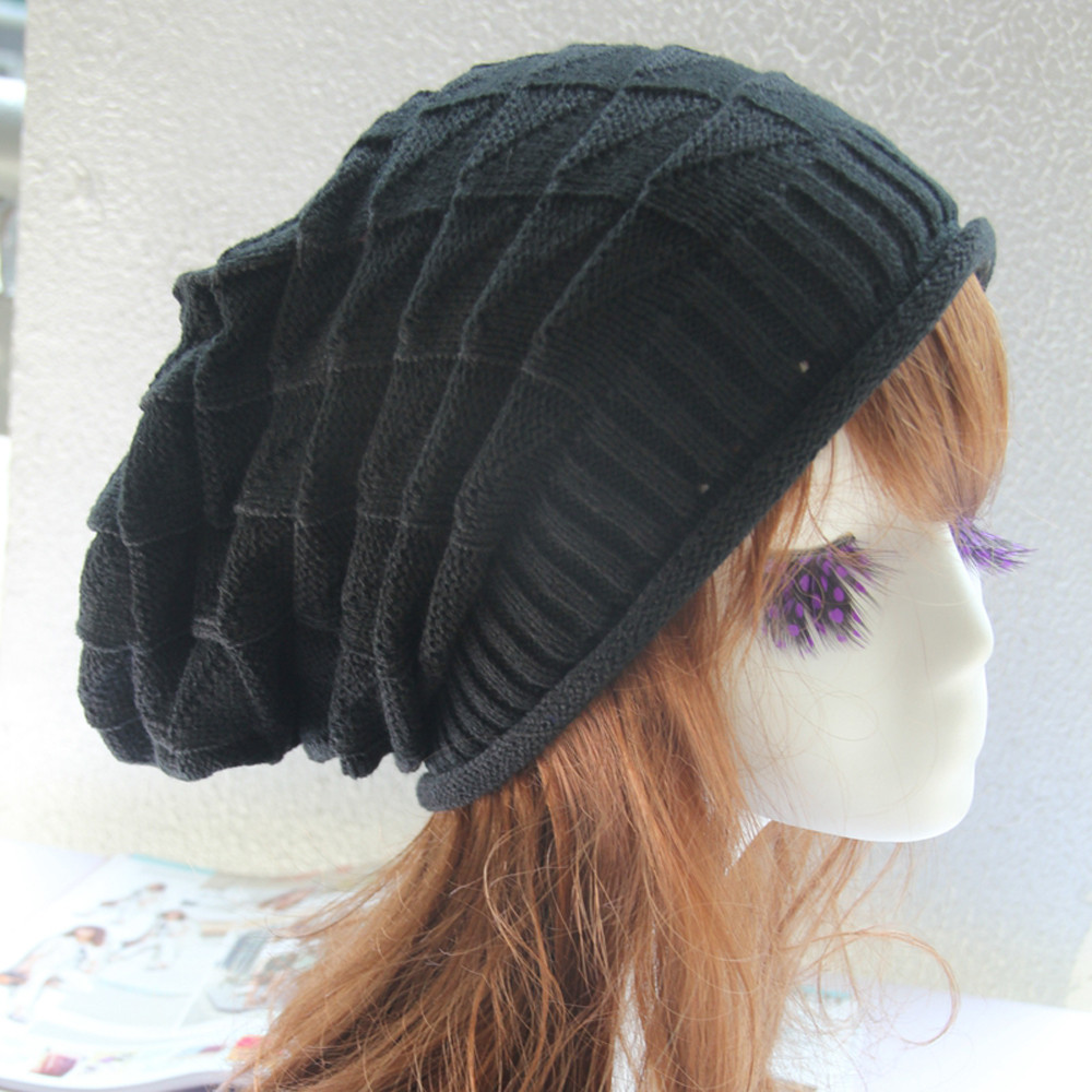 Unisex Fashion Knitted Hats Autumn Winter Warm Cap Lady Casual Beanies Snap Slouch Skullies Bonnet Beanie Women Men Hat Dec26Îäåæäà è àêñåññóàðû<br><br><br>Aliexpress