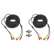 66ft 2X20M Video Audio DC Power DVR Security CCTV Camera RCA BNC Cable Cord Lead(China)