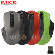 Mini 2.4GHz Wireless Mouse Silent Click Ergonomic Mute Cordless Optical Computer Mouse for PC Laptop Notebook Desktop Office(China)