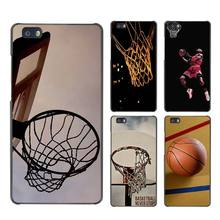 Basketball dark Hard Case Black Cover Scrub for Huawei P8 P9 Lite Plus P7 Mate S 7 8 9