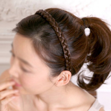 HOT Braided hair headband hair headwrap (brown)