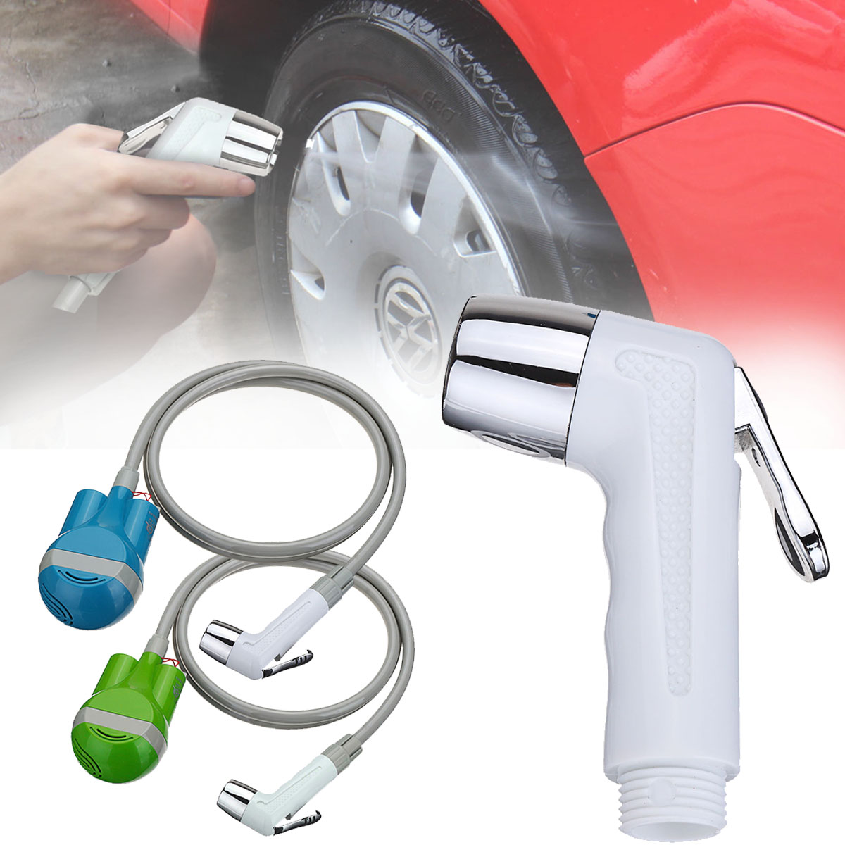 Cleaner Shower-Set Washing-Sprayer Caravan Water-Pump Bath Rechargeable Camping Travel title=