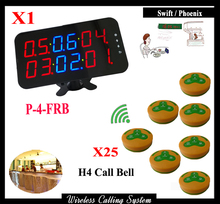 Most Popular Restaurant Paging System With Wireless Remote Control Buzzer (1 display 25call button)(China)