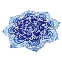 "New Qualified Beach Cover up Handmade Sanganeer Peacock Mandala 72"" Round Tablecloth Gorgeous  Levert Dropship dig6831"