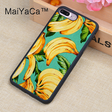 MaiYaCa Fruit Tropical Banana Pattern Soft Rubber Fitted Cases For iPhone 8plus Cover OEM For Apple iPhone 8 plus Back Shell(China)