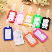 Plastic pp travel luggage Tag suitcase boarding pass board viagem Checked card Mixproof Boarding Tag Address Label Name ID Tags(China)