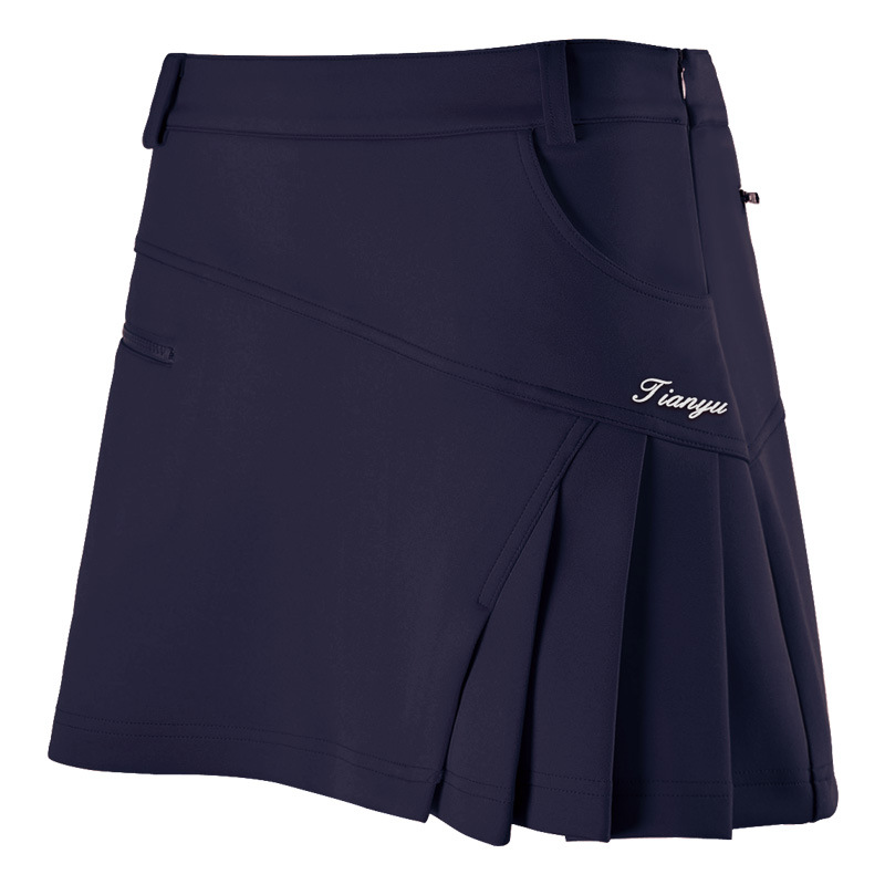 Woman Golf Skirt Summer Clothes Pantskirt Anti Emptied Golf Shorts Pleated Skirt Safety Wrinkle Skorts With Safety Pants<br><br>Aliexpress