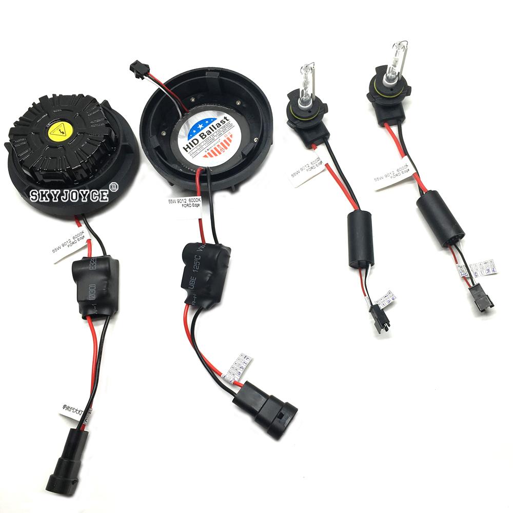 NO Error canbus 55W 9012 hid xenon kit Edge headlight 9012 bi-xenon kit 6000K HIR2 9012 xenon projector bulb brighter than 9012 (2)