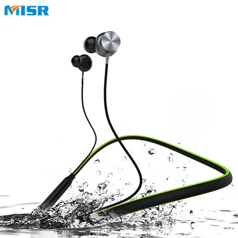MISR N7 Bluetooth Headphone Neckband Magnetic Wireless Earphone Sport Stereo Noise Cancelling With Microphone For Phone<br>