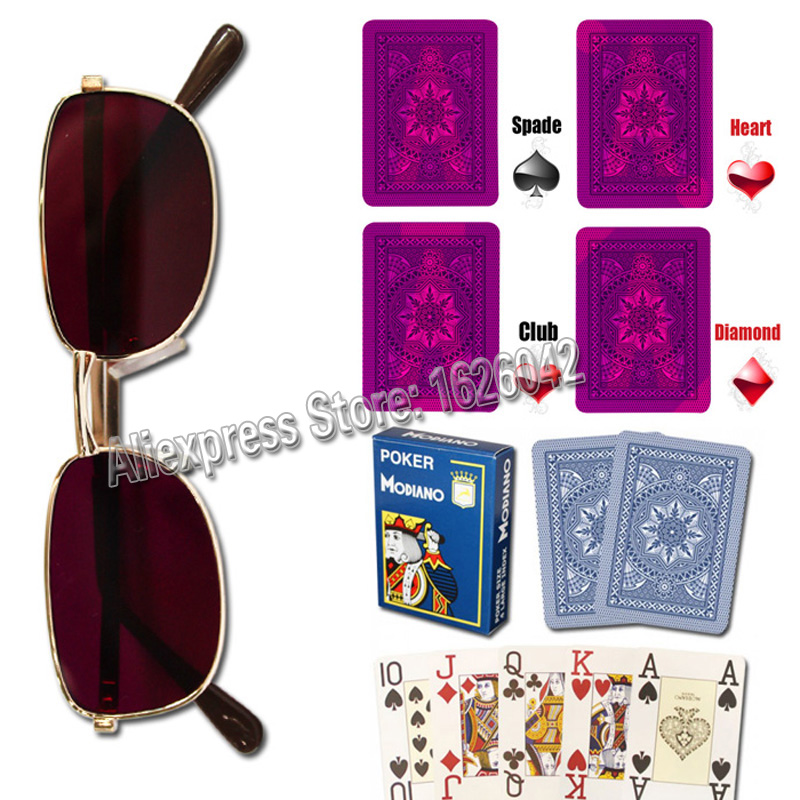 Magic Props XF 003 Invisible Ink Sunglasses With Magic Playing Cards Anti Poker Cheat Perspective Glasses<br><br>Aliexpress