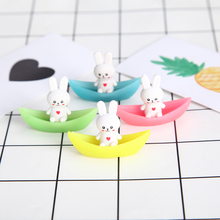 8 pcs/lot Novelty lovely rabbit ship luminous rubber eraser kawaii creative stationery school supplies papelaria gifts for kids(China)