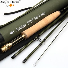3 / 4 / 5 / 8WT Fly Rod Graphite IM 10 / 36T Carbon Fiber Dark Green Fly Fishing Rod with Cordura Tube Cloth Rod Sock(China)