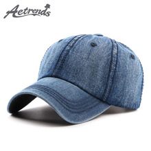 [AETRENDS] 2017 Denim Blue Baseball Cap Men Women Bone Snapback Hats Summer Caps Z-5330()