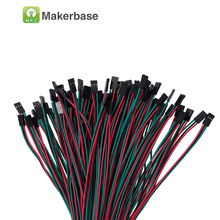 RepRap wire 70cm 3pin female-female 10pcs/lot Dupont Cable jumper line cable for 3Dprinter jumper dupont jumper kablo(China)