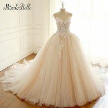 modabelle Pink Blush Wedding Dress Flower 3D Floral Peach Color Vestido De  Noiva Fotos Reais See Through Tulle Bridal Gowns 2018 abbf8a889030