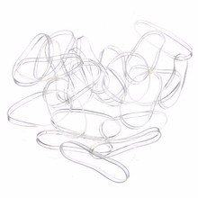 New 100pcs Mini Accessories For Hair Small Braid Plaits Elastic Tie Band Ponytail Holder Elastic Rubber Clear White Accessories