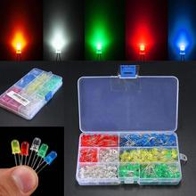 300Pcs 3MM 5MM LED Light-emitting Diode Light Bulb Resistance Light Kits Lamp DIY Lighting Red Yellow Green White Blue(China)