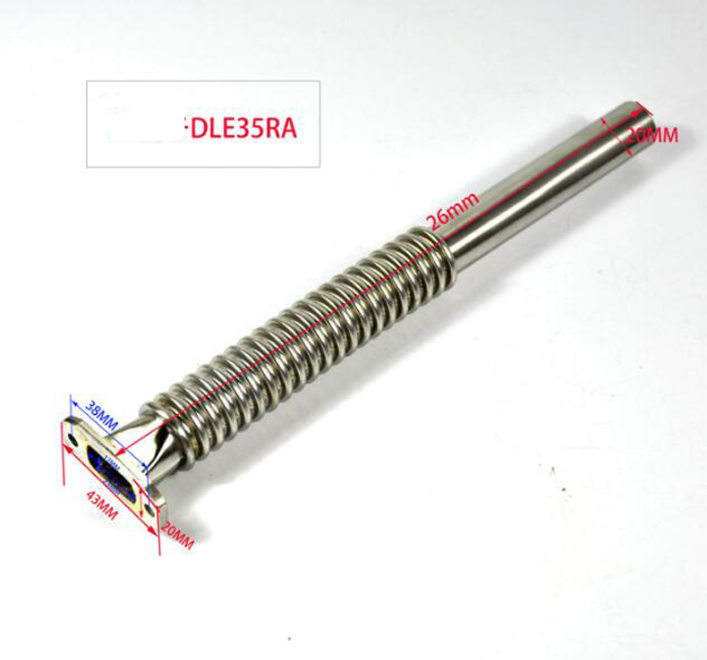 1pcs RC Model Fixwing Airplane Engine Muffler/Exhaust Pipe with Elbow For DLE55RA DLE30 35RA RC Hobby Accessories <br>