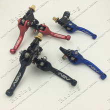 Clutch & Brake Folding Lever Fit Most Motorcycle ATV Dirt Pit Bike WR CRF KLX YZF RMZ Free Shipping