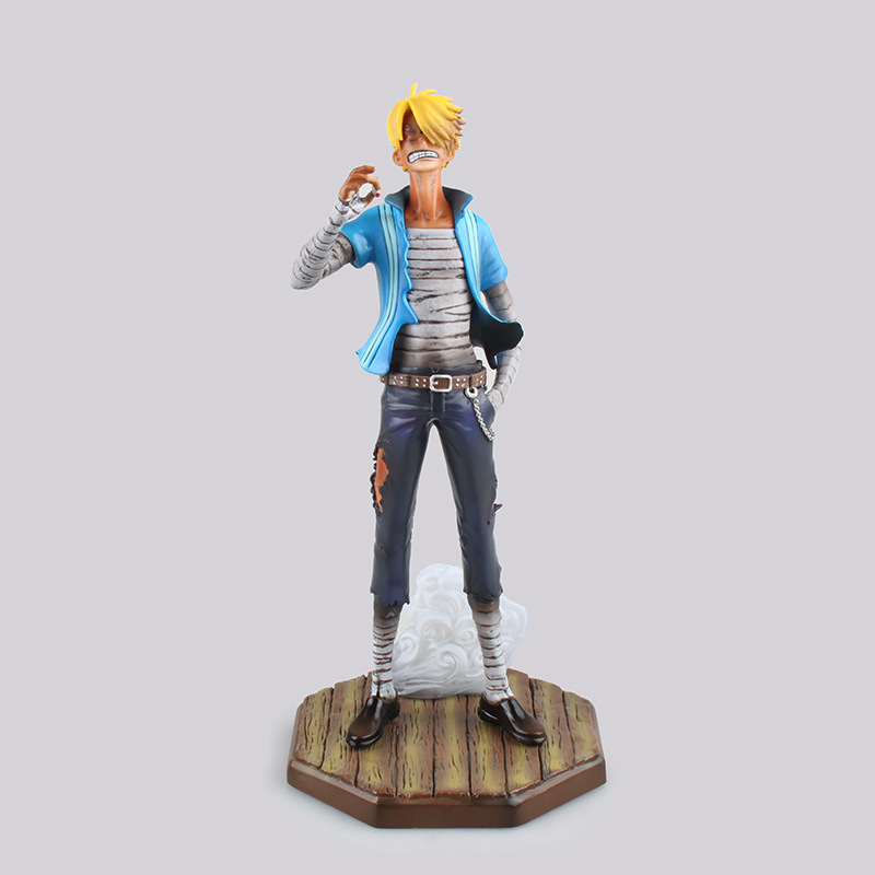 ONE PIECE Japanese Anime Sanji Cartoon OP Model PVC POP can change the face 23cm boxed Action &amp; Toy Figures GH322<br><br>Aliexpress