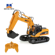 HUI NA TOYS 2.4GHz 15CH Engineering Electric Excavator Construction Truck Plastic Version Built in Battery RC Boy Toys Tractor(China)