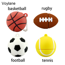 Voylane Basketball sport usb flash drive 4GB 8GB 16GB 32GB memory stick ball Pendrive Pendriver mini usb disk USB 2.0 mini gifts