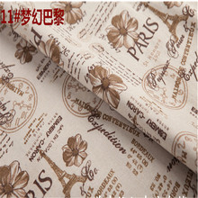 Dream Paris,Print cotton linen, tablecloth curtain Papua photography background cloth DIY handmade ,sell by meter