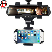 Universal Car Phone Holder Mount Bracket Stand 360 Degree Rotation Rearview Mirror High Quality For Smart Mobile Cellphone Safe