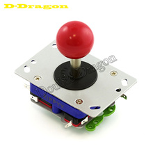 Long / short handle zippy arcade joystick 11 colors 30mm  switching top ball 2/4/8 way classic Arcade stick for PacMan