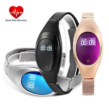 Z18 Women Smart Wristband Bluetooth Bracelet Blood Pressure Oxygen Heart Rate Monitor Waterproof Pedometer For iOS Android(China)