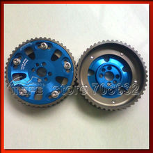 2PCS 5-Bolt Adjustable Cam Gear Pulley for RB20 / RB25 / RB26 Blue(China)