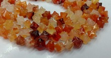 "Natural Red Carnelian Agat e Stone Beads 5strands/lot 7mm Cube stars Beads,Jewelry Making Bead Natural Beads 15.5"" per string"