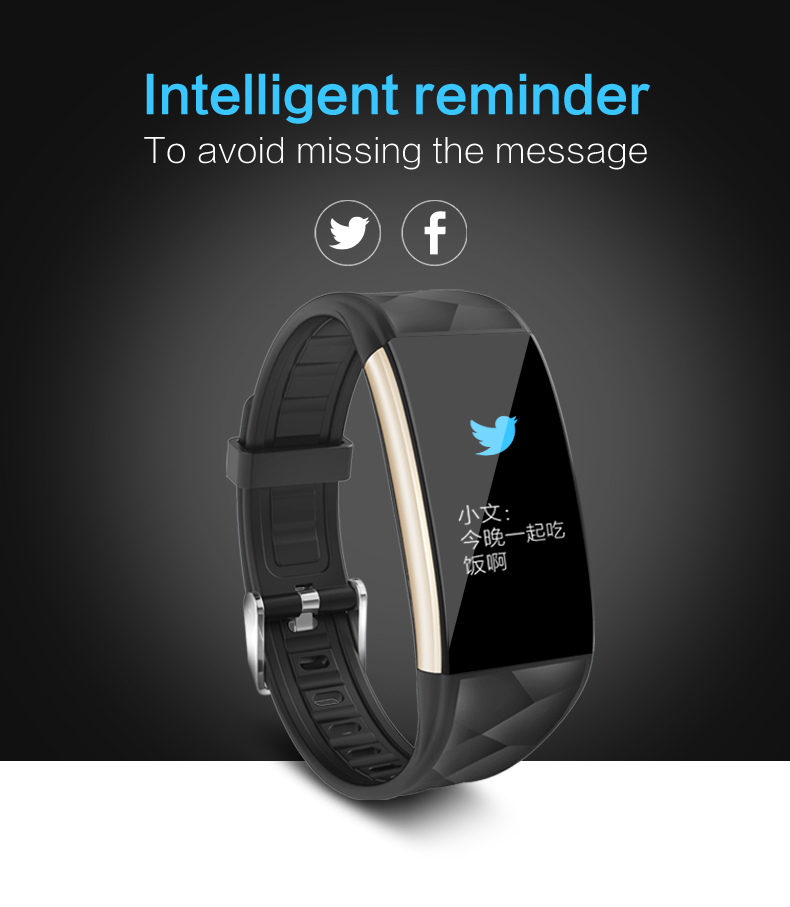 Color Smart Bracelet Bluetooth Heart Rate Blood monitor Fitness Tracker Sport Android IOS Wristband Waterproof Smart band PK S2