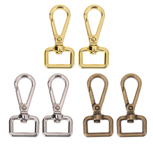 Vintage Metal Luggage bag Dog buckle 4pcs Snap Hook Bag Hanger Lobster Clasp DIY Sewing Handmade Key Chain Buttons(China)