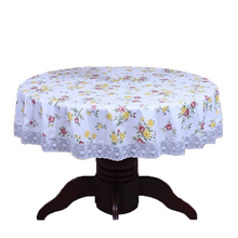 PVC Pastoral round table cloth waterproof Oilproof non wash plastic pad plus velvet anti hot coffee tablecloth 137cm No8(China)