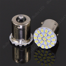 10pcs Hotsale BA15S P21W 1156 22 LED 1206 SMD Car Auto Tail Side Indicator Lights Parking Lamp Bulb White 3020 DC12V