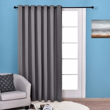 NICETOWN Thermal Insulated Wide Width Solid Blackout Curtain / Drapes,Sliding door insulated curtain,Extra Wide curtain