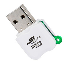Universal Card Reader Mini USB 2.0 Micro  TF T-Flash Memory Card Reader Adapter High Speed Fashion Wholesale Hot Sale # 20
