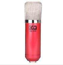 Red KFW SK-200 computer recording capacitor microphone microphones computer recording cover songs skype chat network K