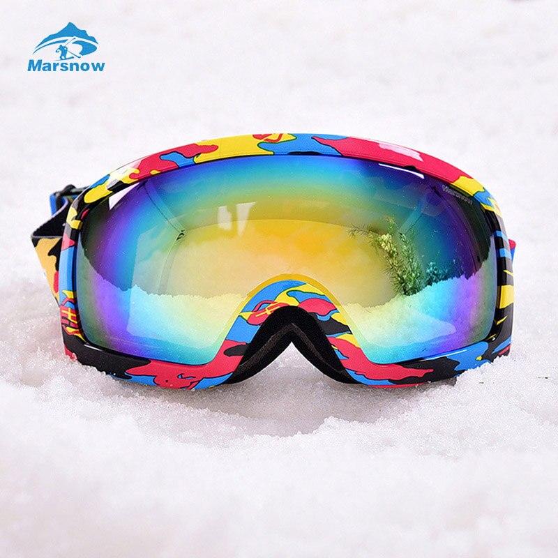 Marsnow Double Layer Lens Polarized Ski Goggles for Men &amp; Women UV400 Anti-fog Big Spherical Snowboard Glasses<br><br>Aliexpress