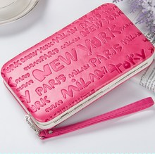 New style women's Monogram pencil case wallet Ms. Lunch box style purse Mobile Phone Bags Free Shipping 1313