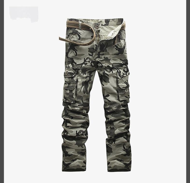 Autumn Spring Mens Cargo Casual Pants Multi-Pocket Bags Men Trousers Overalls Military Camouflage Uniforms Loose Men TrousersÎäåæäà è àêñåññóàðû<br><br>